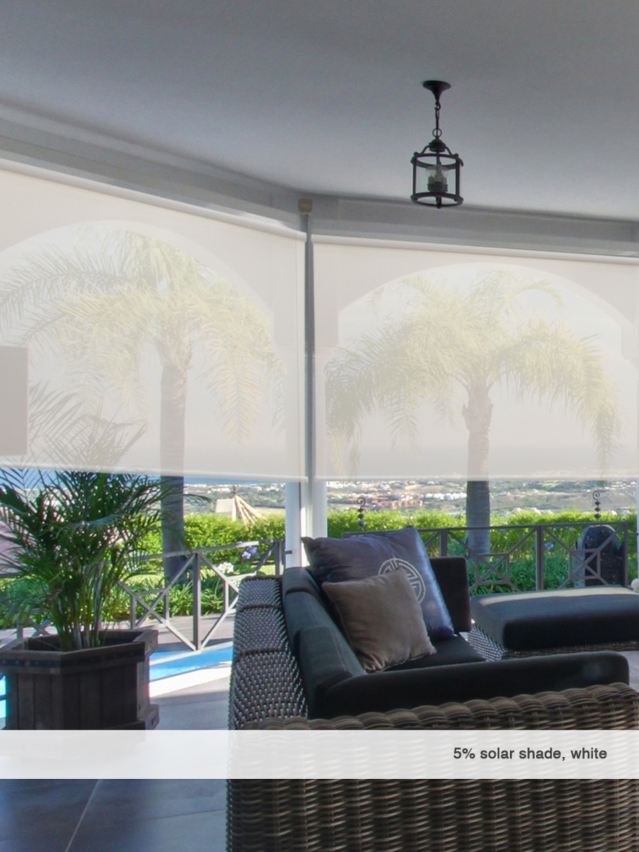5 Openness Cordless Solar Shades: cordless exterior sun shades