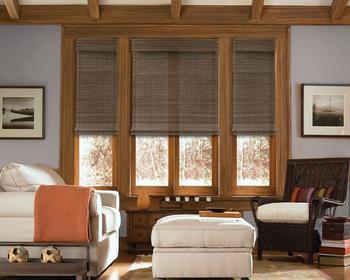 Cordless Woven Wood Shades
