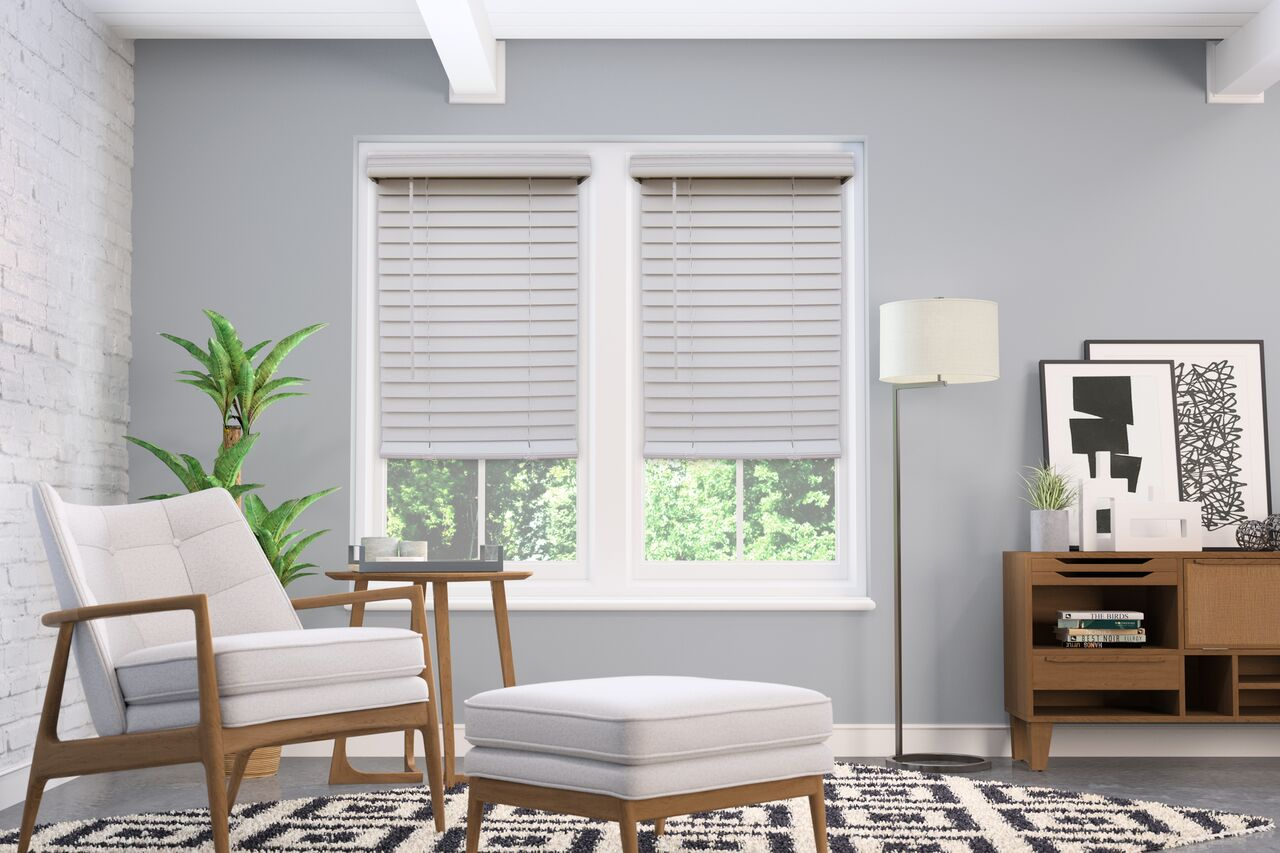 2 Inch Cordless Faux Wood Blinds