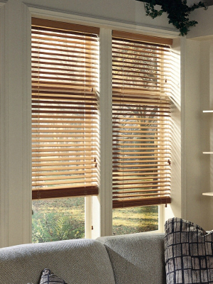 Image result for wood mini blinds